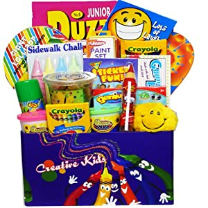 Art of Appreciation Gift Baskets Crafty Kids Fun &#038; Activity Gift Box
