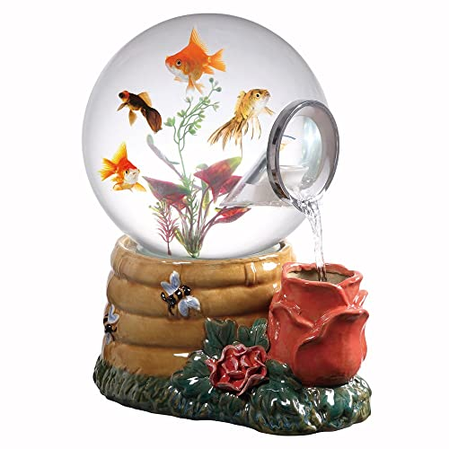 Aquatica Gallery Magic Globe Honey Rose Aquarium, 5-Gallon