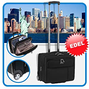 trolley handgep ck boardingcase checkin reise koffer polyester schwarz. Black Bedroom Furniture Sets. Home Design Ideas