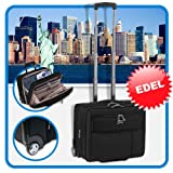 Trolley Handgepck BoardingCase CheckIn Reise Koffer Polyester schwarz 35L &#34;New York&#34; Businessgepck 203501