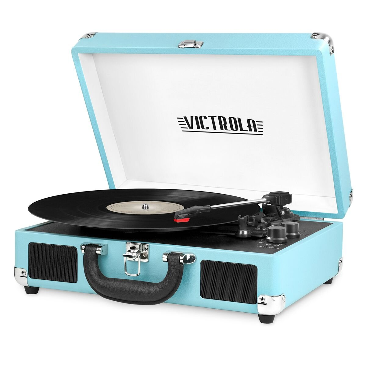 Victrola Nostalgic 3-Speed Vintage Bluetooth Suitcase Turntable, Turquoise 0