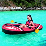 Bestway-Hydro-Force-Raft-Set-Boot-188-x-98-cm-mit-Blasebalg-und-2-Paddeln