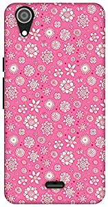 The Racoon Grip Pink Flower Collage hard plastic printed back case / cover for Micromax Canvas Selfie Lens Q345