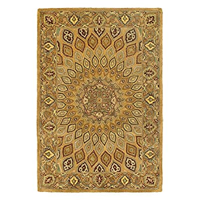 Safavieh Heritage Collection HG914A Handmade Light Brown and Grey Wool Area Rug