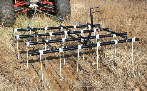 Atv Adjustable 4X5' Tine Style Drag Harrow front-95481