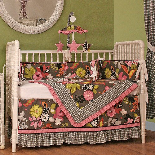Hoohobbers 4-Piece Crib Bedding, Sleek Slate