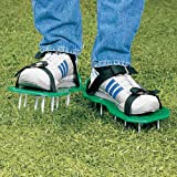 Gardening Equipment Lawn Aerator Sandals w Attached Spikes to Plastic Base