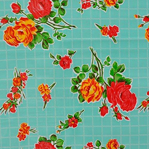 mantel-de-hule-para-mesa-120-cm-ancho-largo-por-medio-metros-modelo-flor-rosedal-turquesa-fantastik