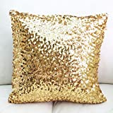 Europe Luxurious Sequin Pillow Cushion Cover Pillow Case 18-inch By 18-inch