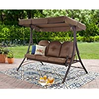 Mainstays Wentworth 3-Person Hammock Swing (Brown)