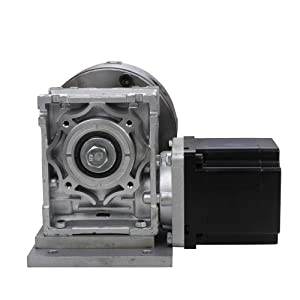 BUBUQD CNC Gearbox Router Rotary A 4th Axis 4 Jaw 130mm Chuck Reducing Ratio 20:1 Engraving Machine