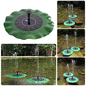 Power water pump floating solar powered for Garden pond amazon