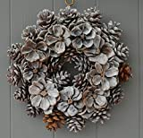 Country Rose Pine Cone Wreath