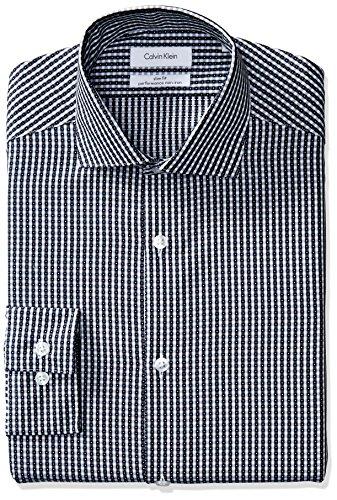 Calvin-Klein-Mens-Non-Iron-Slim-Fit-Textured-Check-Spread-Collar-Dress-Shirt