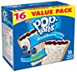 Pop-Tarts, Frosted Blueberry, 16-Count Tarts (Pack of 8)