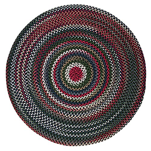 Chestnut Knoll Polypropylene Braided Round Rug, 6-Feet, Black Satin