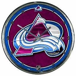 NHL Colorado Avalanche Chrome Clock