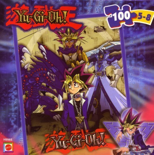 Yu-Gi-Oh! Yu-Gi, Pharaoh, and Monsters Scene - 100 piece jigsaw puzzle - 1