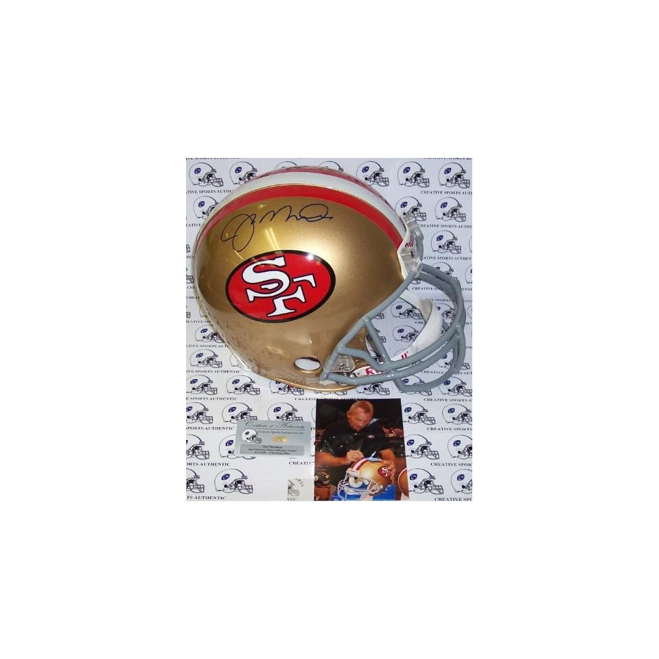 Creative Sports APROSF MONTANA Joe Montana Hand Signed San Francisco 49ers Throwback Authentic Helmet