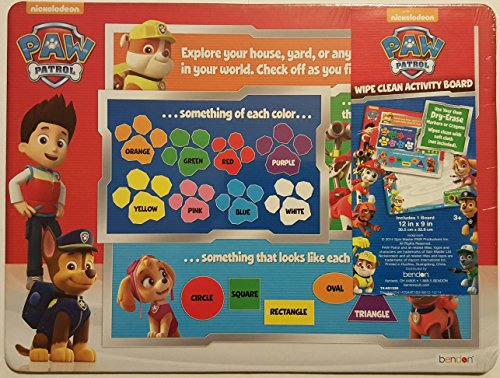 Nickelodeon PAW Patrol Wipe Clean Activity Board - 1