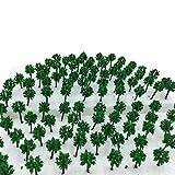 森林 選べる サイズ 【DauStage】 Nゲージ ジオラマ 鉄道 建築 模型 用 樹木 風景 緑 100本 (01,緑 3㎝ 100本)