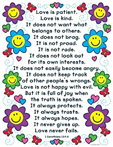 The Love Verses Chart: 1 Corinthians 13:4-8 from Carson-Dellosa Christian Publishing