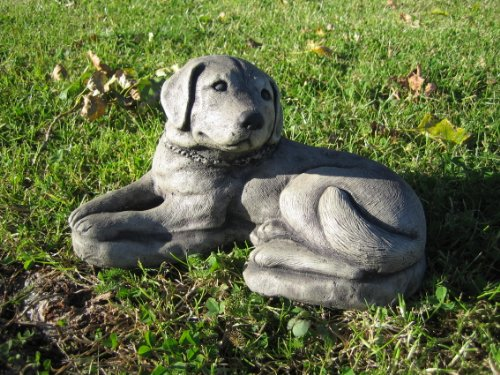Labrador dog stone garden ornament