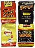Puerto Rican Variety Pack Ground Coffee - 4 Local Favorites in 8 Oz Bags (2 lbs Total)