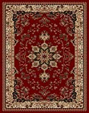 "Nevita Collection Isfahan Persian Traditional Design Area Rug Rugs (Dark Red (Burgundy), 5' 3"" x 7' 1"")"