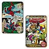 Marvel 'Spiderman' Rectangular MDF Fridge Magnet (7.5 cm x 10 cm, Set of 2)