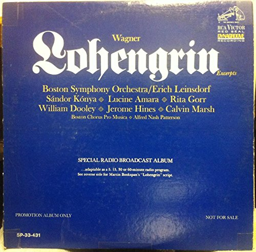 ERICH LEINSDORF WAGNER LOHENGRIN vinyl record (Wagner Leinsdorf compare prices)