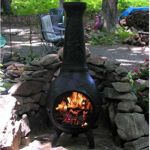 Chiminea Outdoor Fireplace