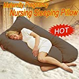 F2C Almond 2in1 Pregnancy Support Pillow Nursing Maternity Sleep Support Baby (#1 brown)