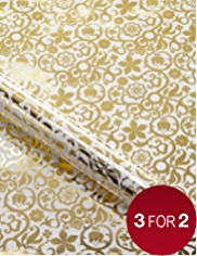 Marcel Wanders White & Gold Wrapping Paper