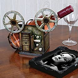 Vintage Film Reel Metal Wine Holder