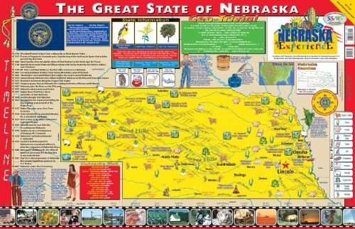 Gallopade Publishing Group 22 x 34 Inches The Nebraska Experience Poster/Map (9780793397747)
