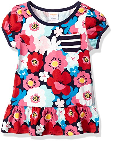 Gymboree Girls' Floral Print Peplum Top, Multi, 18-24