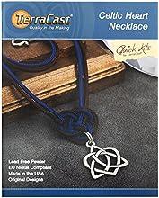TierraCast Celtic Heart Knot Necklace Jewelry Kit