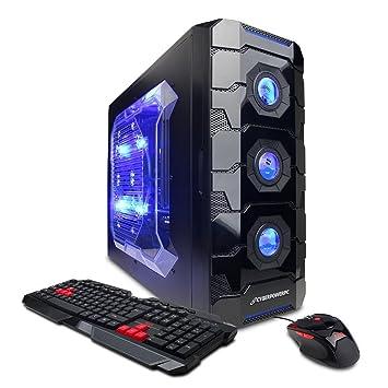 CyberpowerPC Gamer Aqua GLC2240 Desktop Black Blue