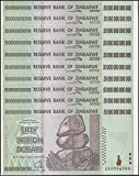 Zimbabwe 50 Trillion Dollars X 10 PCS, AA/2008 Series, P-90, UNC, Currency 50 & 100 Trillion Series