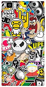 The Racoon Grip Sticker Bomb hard plastic printed back case for Lenovo K900