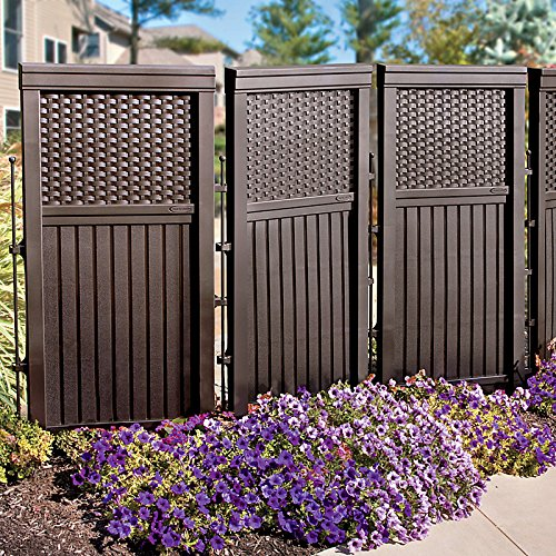 Resin Patio Screens : Woven resin privacy screen brown decorative fences