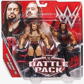WWE Pack De Bataille Série 47 Figurine D'Action - Beau Rusev & Roman Reigns