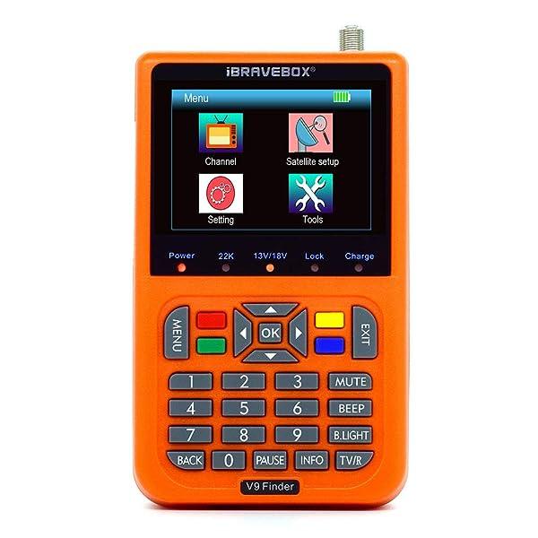 Satellite Finder,KKmoon V9 Finder Digital Satellite Finder LCD Satellite Finder Digital Satellite Signal Finder Meter Satellite Meter Satellite Finder 3.5 inch LCD Digital Display Satellite Television (Color: Orange)