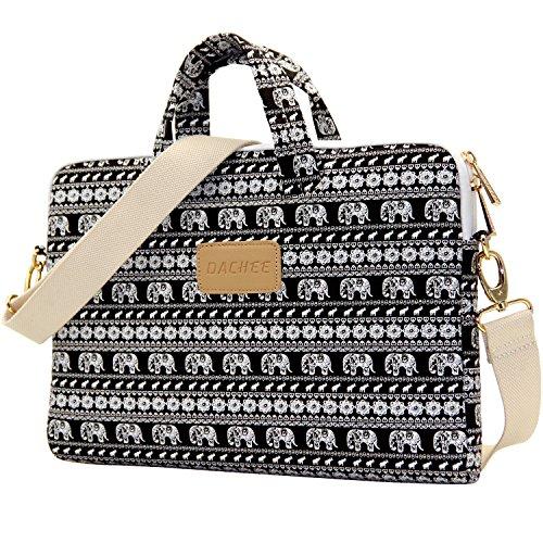 Dachee Elephant Laptop Case Messenger Bag for 15 - 15.6-Inch Laptop (Black)