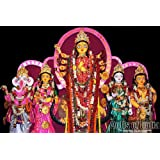 "Dolls Of India ""Devi Durga With Her Family In Bengal Pata Style"" Photographic Print - Unframed (45.72 X 30.48..."