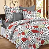 Story@Home Candy Floral Cotton Kids Double Bedsheet with 2 Pillow Covers - Multicolor