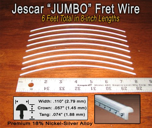 Guitar/Bass Fret Wire - Jescar JUMBO Size Nickel-Silver - Six Feet (Fret Wire compare prices)