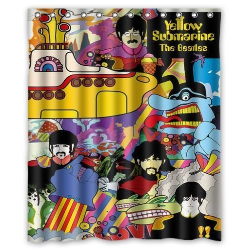 The Beatles Yellow Submarine Waterproof Bathroom Shower Curtain 66