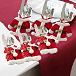 6 Pc. Santa Suit Christmas Silverware...